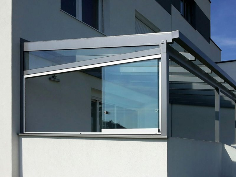 Terrassendach Glas Alu Himberg