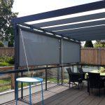 SAP Metallbau Ariane Terrassendach mit Senkrechtmarkise Innen 3x4